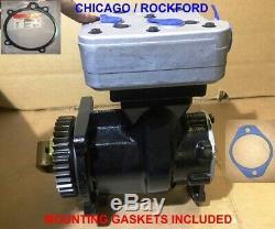 Air Compressor for CUMMINS ISX Volvo, Intrenational, Kenworth, Peterbilt trucks