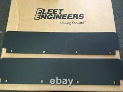 Commercial Semi Truck Black Poly Quarter Fender Set. Fleet Engineers # 1900KIT