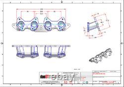 Ford CrossFlow Inlet manifold to suit Weber/Jenvey DCOE Throttle Bodies, 20deg
