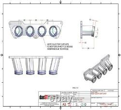 Honda Civic Type R K20A Inlet Manifold for GSXR750 & GSXR1300 Throttle Bodies