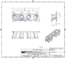 Honda D16 inlet manifold to Jenvey/Weber DCOE Throttle bodies