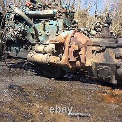 International 1985 Dt-360 Long Block Engine 212,000 MI Wrecked Pump & Front Part