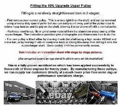 Jaguar XJR 4.2 X350 Supercharger Upper Pulley 10% 2.5lb Upgrade stainless steel