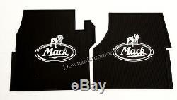 Mack Truck OEM Rubber Floor Mats/Logo CH & Vision PRE 2006 Emissions Engines